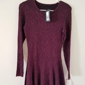 RVN tatto lace Jacquard  L/S Flared Dress size M